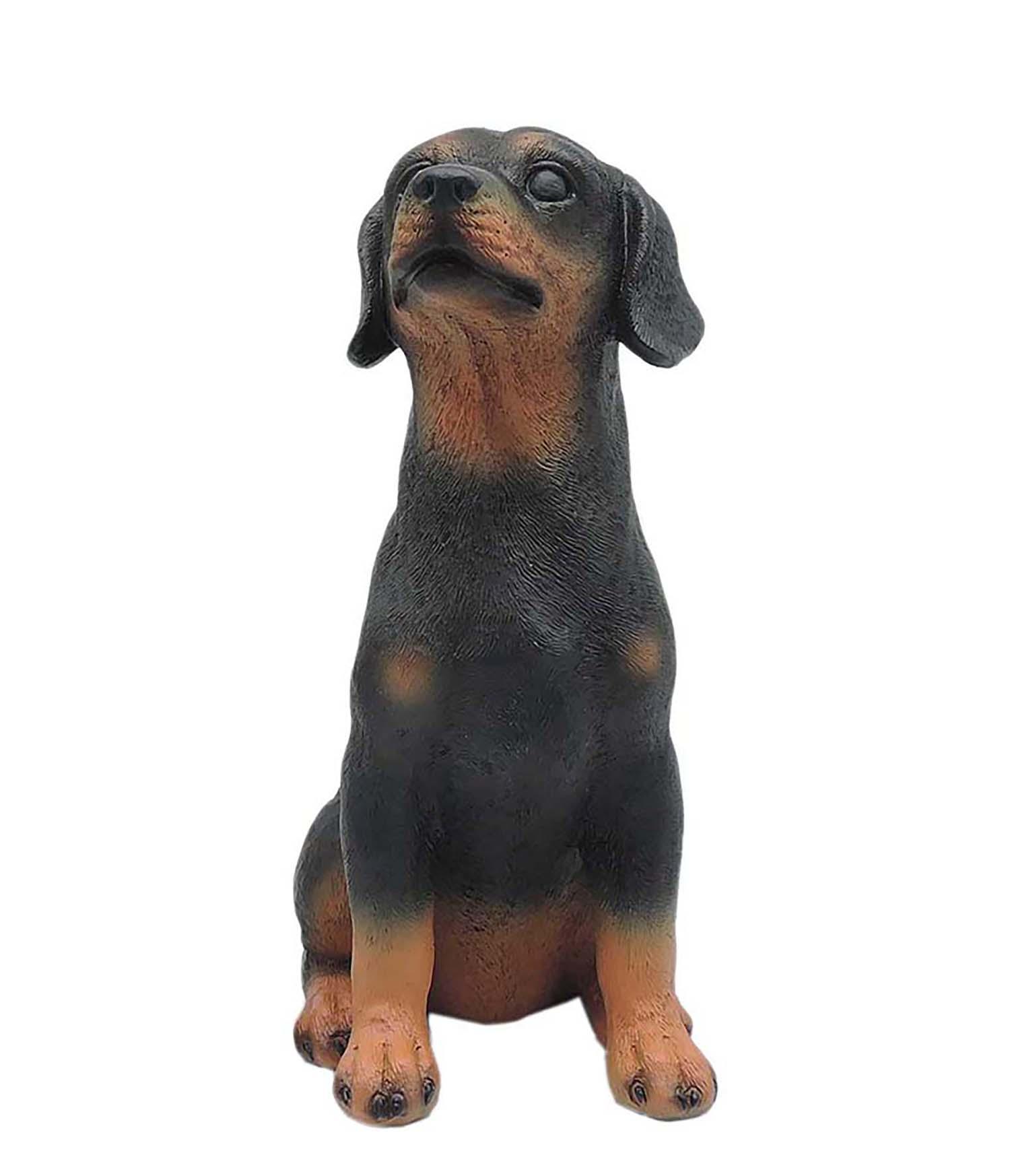 Cute Resin Black Dog  Great Choice for Garden Ornamnet PH15808