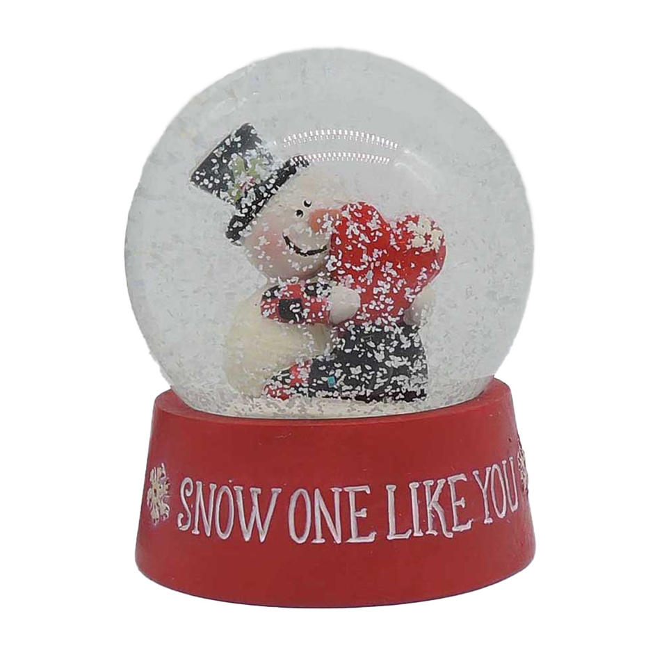Hot Sale Hand-Painted Snow Globe With Snowman on Base Resin Statue  for Home Decor Furnishing 198-12432