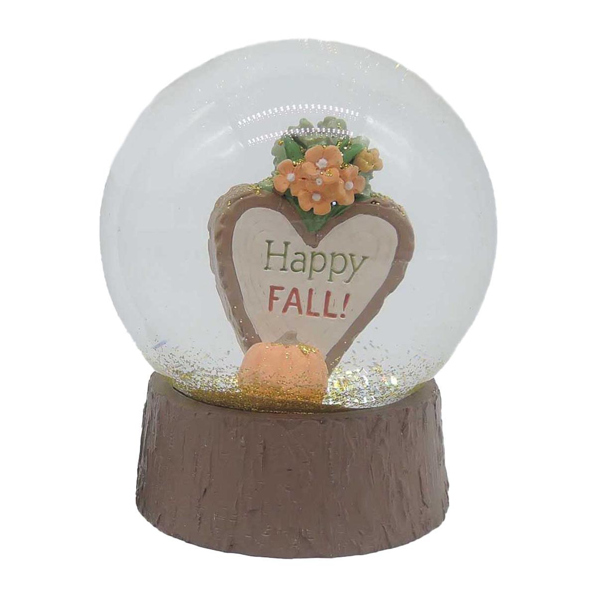 Heart Pumpking Flower Snow Globe 206-12929
