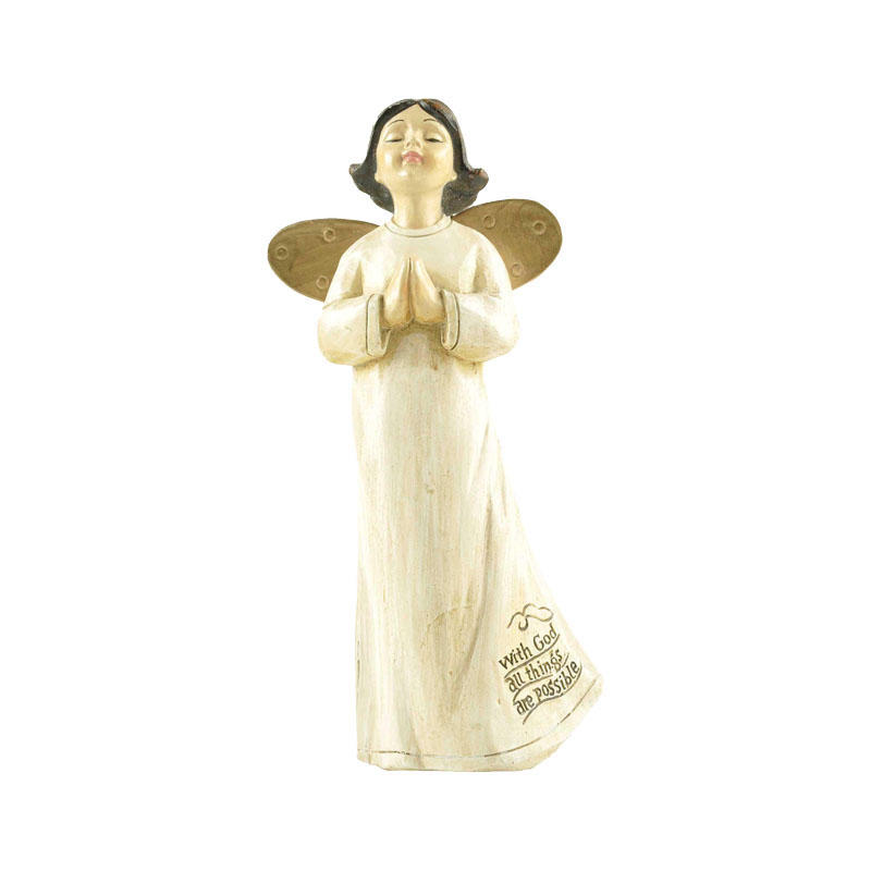 Hot Sale Little Cute Pray Angel with Golden Wings PH15776