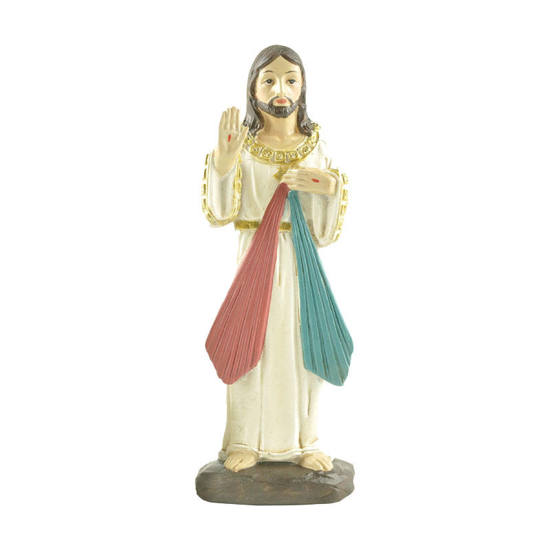 Custom New Design 4.75 Inches High Jesus-Divine Mercy Statue for Christian and Catholic Family in Western European Countries