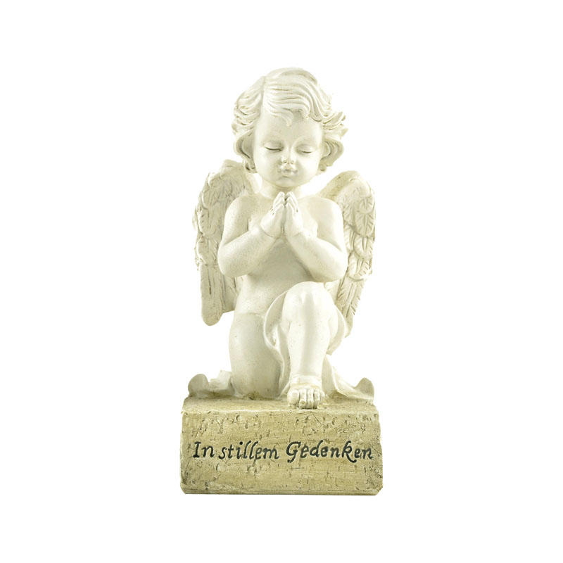 Custom Hot Sale 6.5 Inches High Memorial Angel Praying on Base-Remember in Silence PH15772