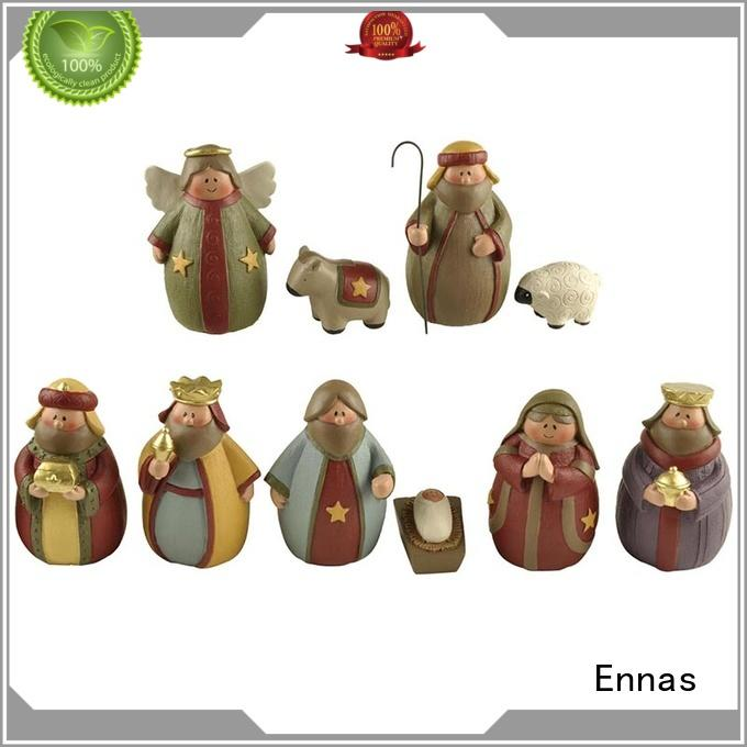 Ennas christmas nativity set with stable hot-sale holy gift