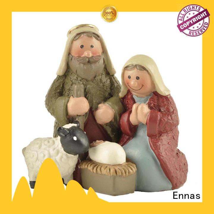 Ennas eco-friendly nativity set figurines popular family decor