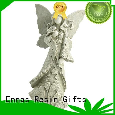 carved personalized angel figurine hand-crafted vintage fashion