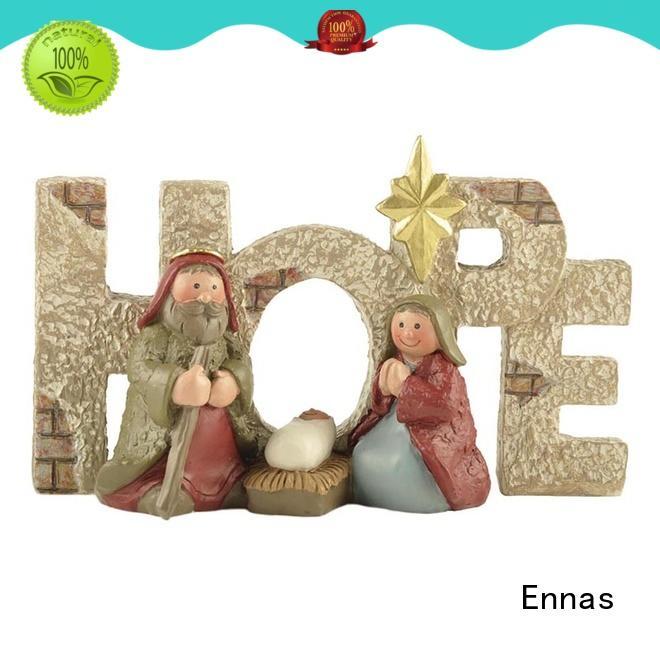 Ennas holding candle religious sculptures bulk production family decor