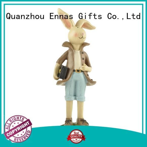 free sample easter rabbit figurines oem home decor