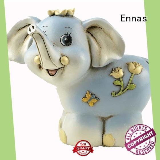 Ennas 3d collectible dog figurines handmade resin craft