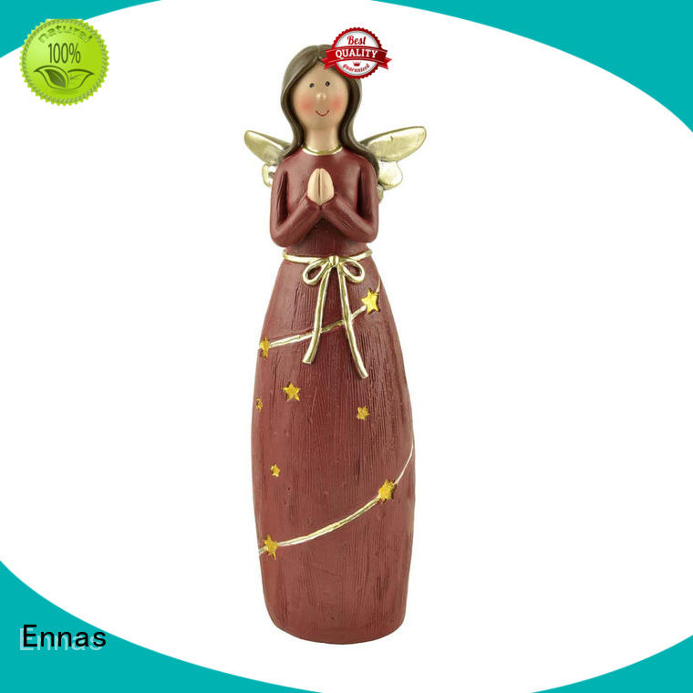 Ennas artificial angel figurine colored for ornaments