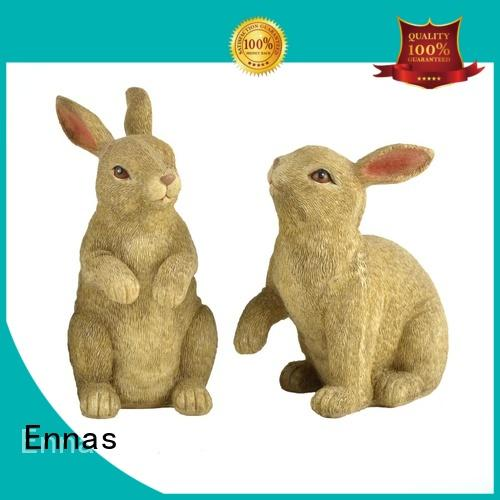 Ennas vintage easter bunny figurines oem home decor