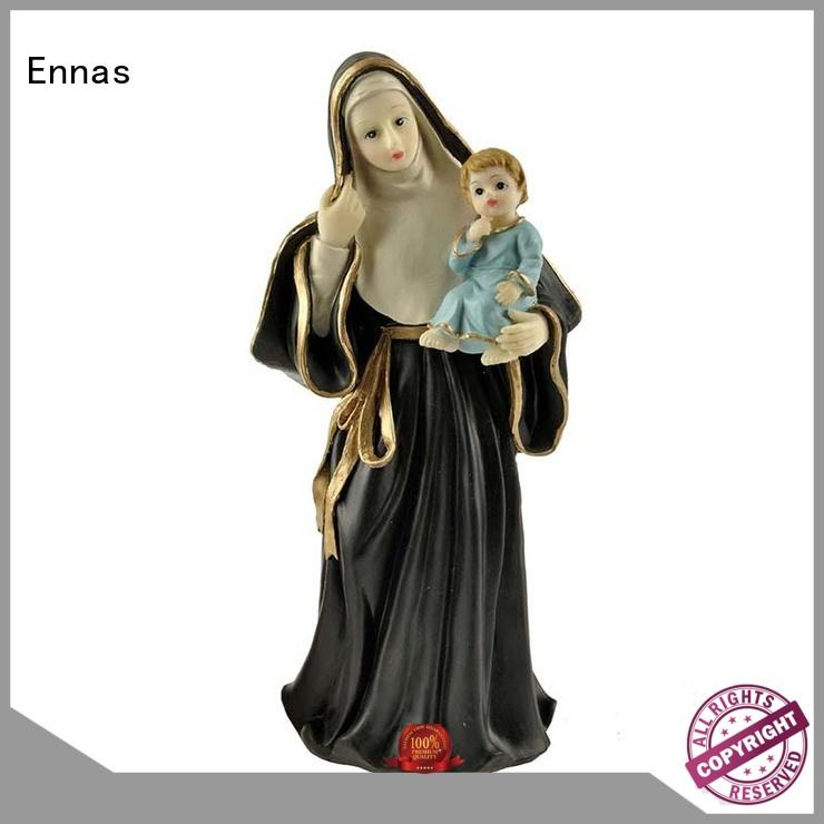 holding candle christian figurines eco-friendly hot-sale