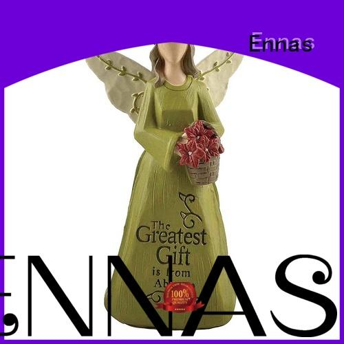 decorative mother angel figurine colored at discount Ennas