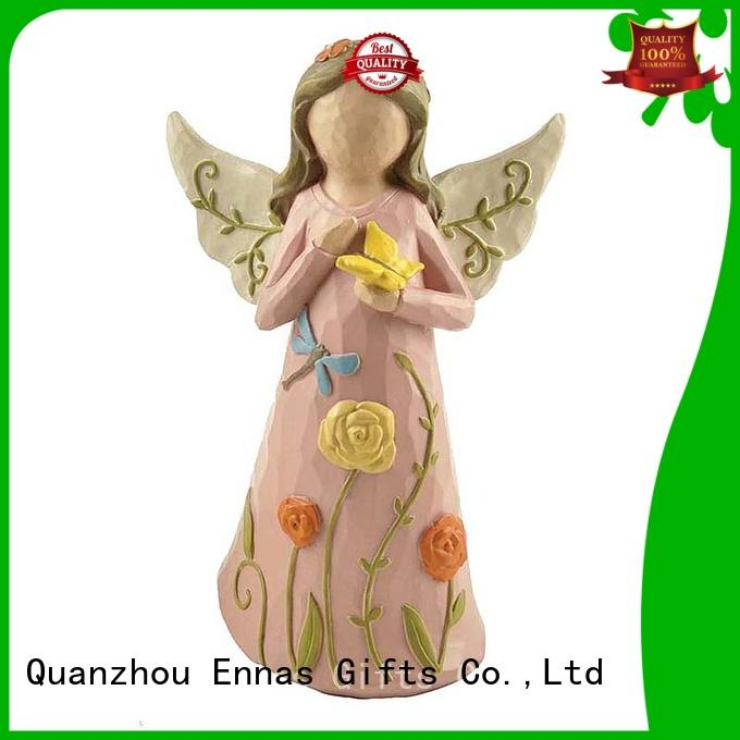 Ennas family decor guardian angel figurines collectible lovely for decoration