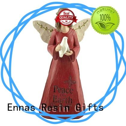 Ennas religious memorial angel figurines unique for ornaments