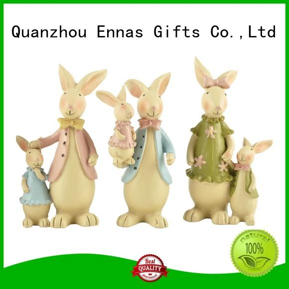 decorative easter rabbit statues polyresin micro landscape