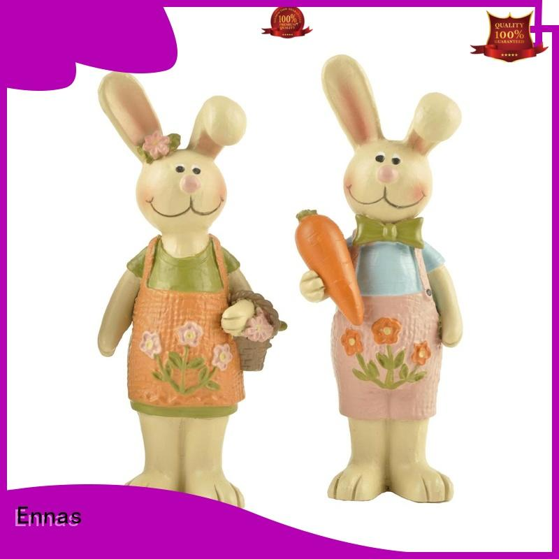easter rabbit figurines handmade crafts home decor