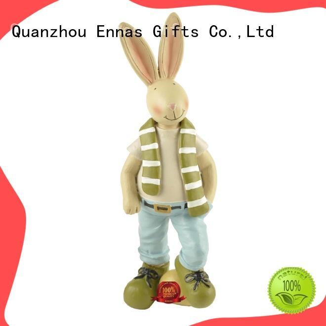 Ennas easter rabbit decor polyresin for holiday gift