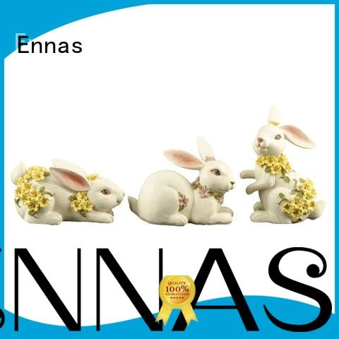 decorative vintage easter bunny figurines handmade crafts for holiday gift