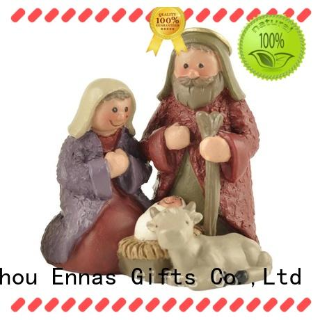 holding candlenativity set with stable christmas popularholy gift