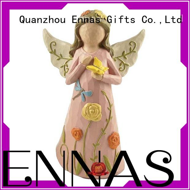 artificial mini angel figurines colored for ornaments