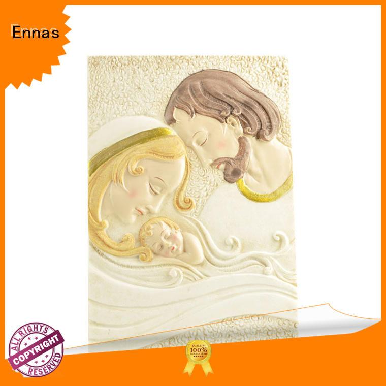 Ennas holding candle nativity set bulk production holy gift