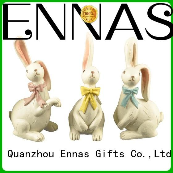 free sample easter rabbit statues oem micro landscape