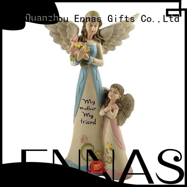carved small angel figurines handmade at discount