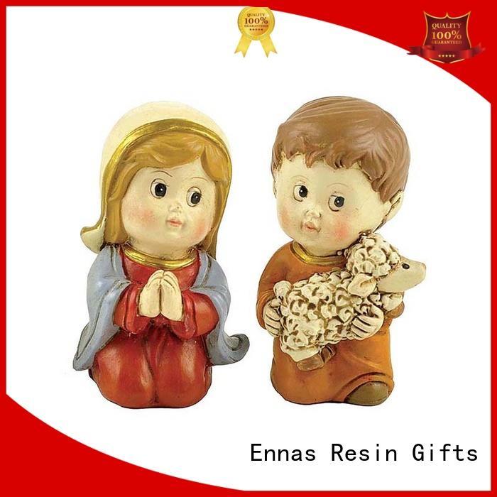 Ennas christmas church figurine promotional craft decoration