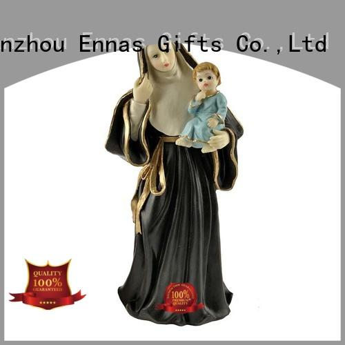 Ennas holding candle religious statues popular