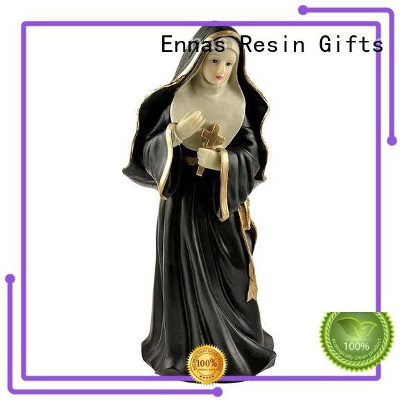 Ennas custom sculptures nativity set with stable popular family decor