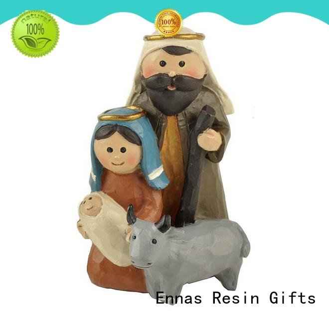 Ennas holding candle church figurine hot-sale