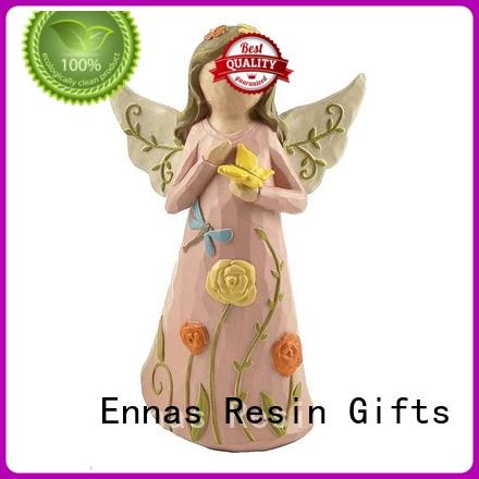 Ennas high-quality resin angel figurines unique for ornaments