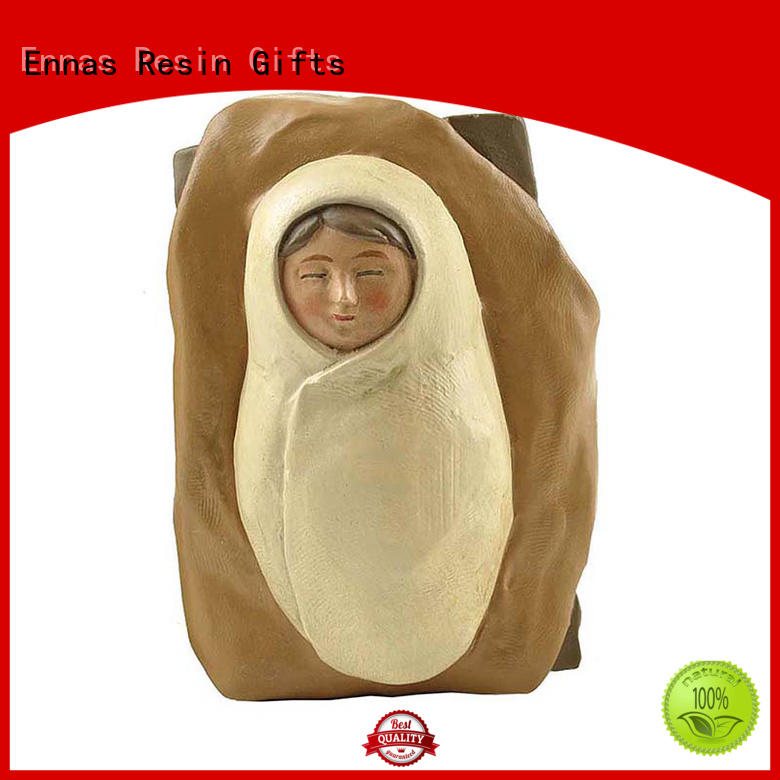 Ennas wholesale nativity set with stable hot-sale holy gift
