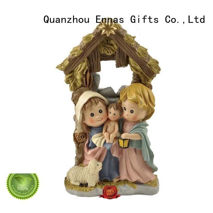 Ennas custom sculptures nativity set hot-sale holy gift