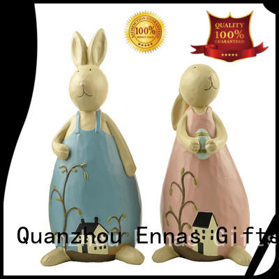 best quality easter statue cute polyresin home decor