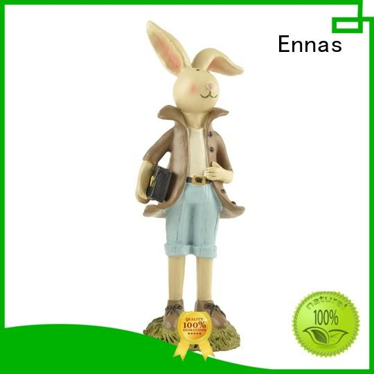 Ennas decorative easter bunny figurines handmade crafts for holiday gift