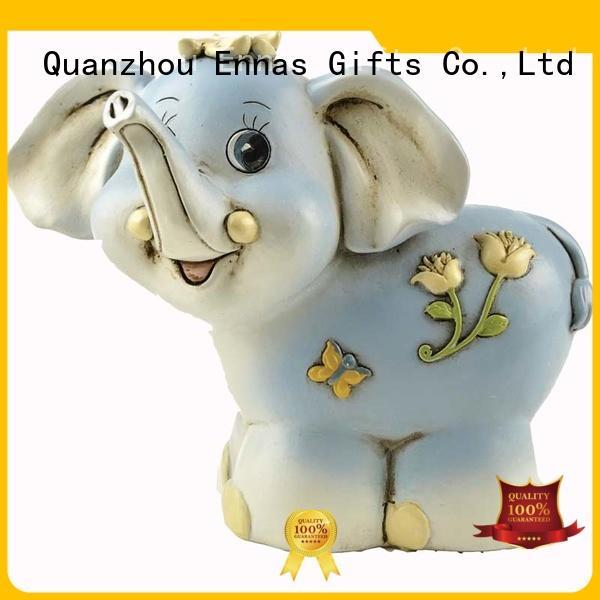 Ennas 3d dog figurines animal resin craft