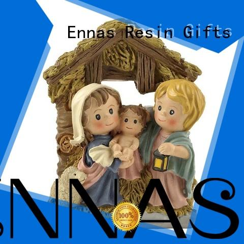Ennas christian nativity set with stable hot-sale craft decoration