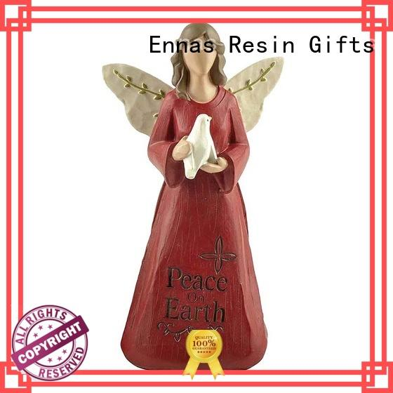 Ennas angel figurines colored for ornaments