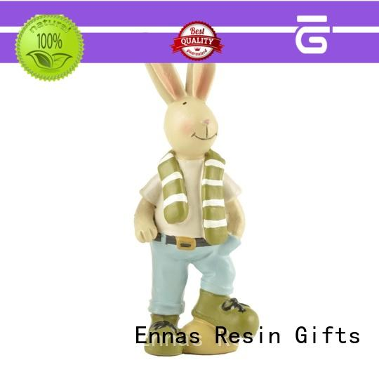 vintage easter bunny figurines oem for holiday gift