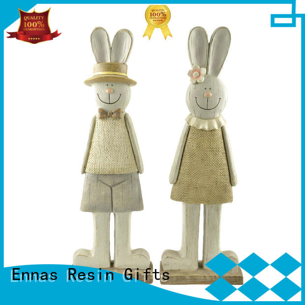 Ennas hot-sale easter statue polyresin micro landscape