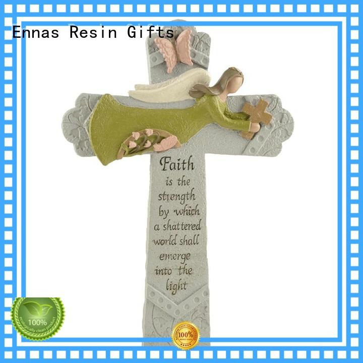 Ennas holding candle church figurine promotional holy gift