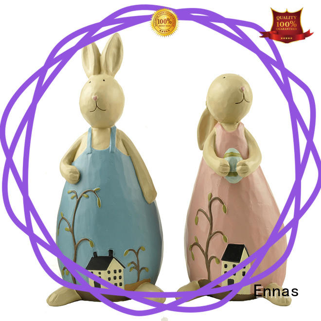 best quality easter rabbit figurines cute polyresin home decor