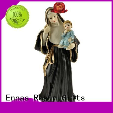 Ennas holding candle religious statues popular craft decoration